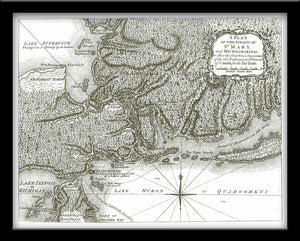 1761 Map of Michilimackinac and Ste. Lawrence Seaway