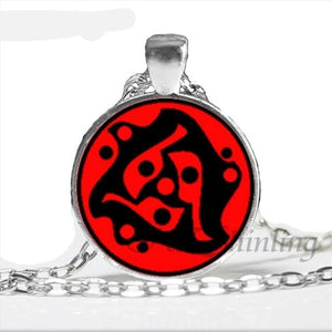 Naruto Sharingan Chain Pendant Necklace