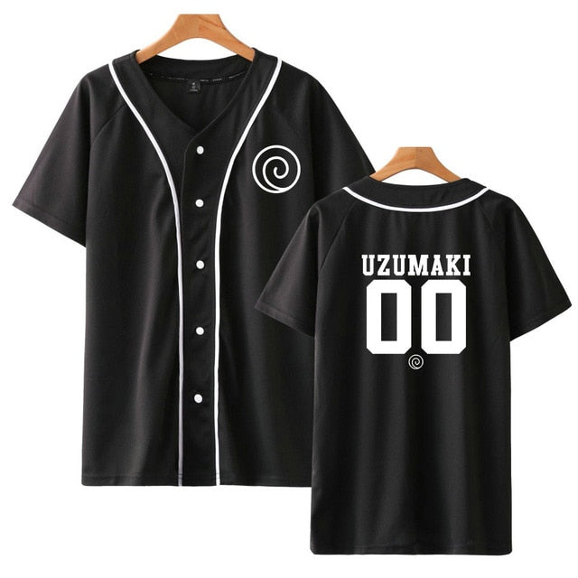 Uchiha Baseball Shirt Short Sleeve Baseball Jersey