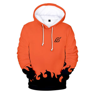orange hokage flame hoodie and sweatshirt naruto