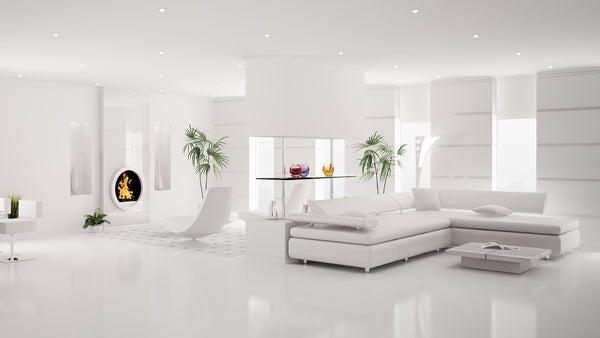 Large white sofa for hall