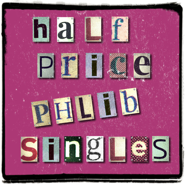 Phlib singles are now half price!