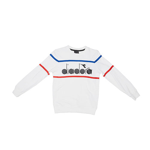 Diadora White Retro Logo Sweat