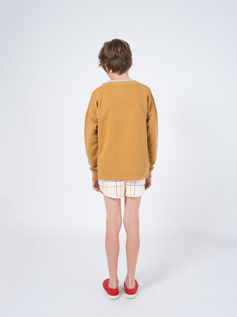Bobo Choses Rust Geometric Round Neck Sweat
