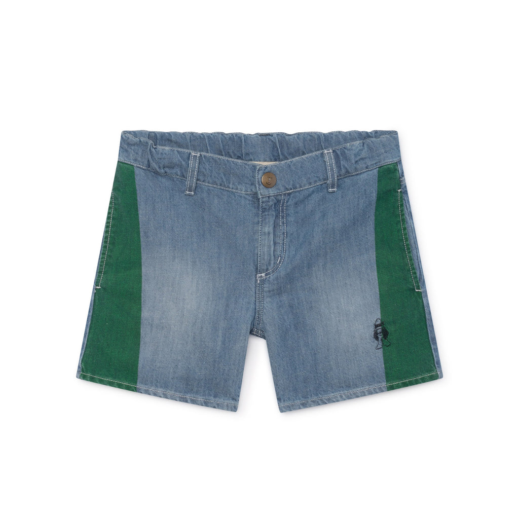 Bobo Choses Blue Denim Paul Shorts