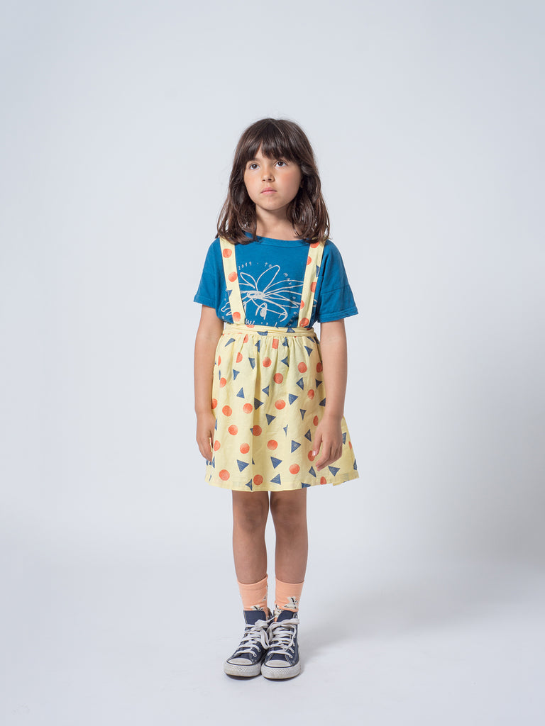 Bobo Choses Yellow Pollen Braces Skirt Dress