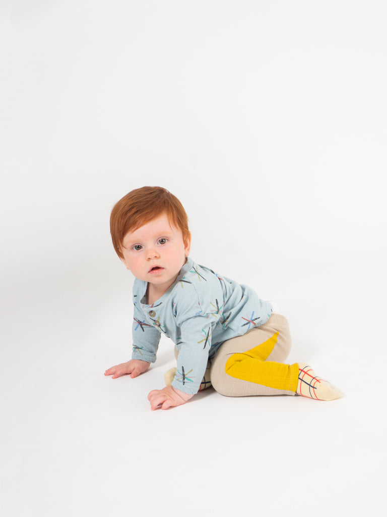 Bobo Choses Beige Apple Leggings