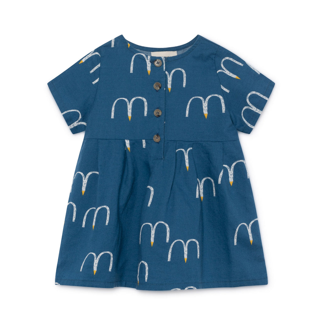 Bobo Choses Blue Birds Button Dress
