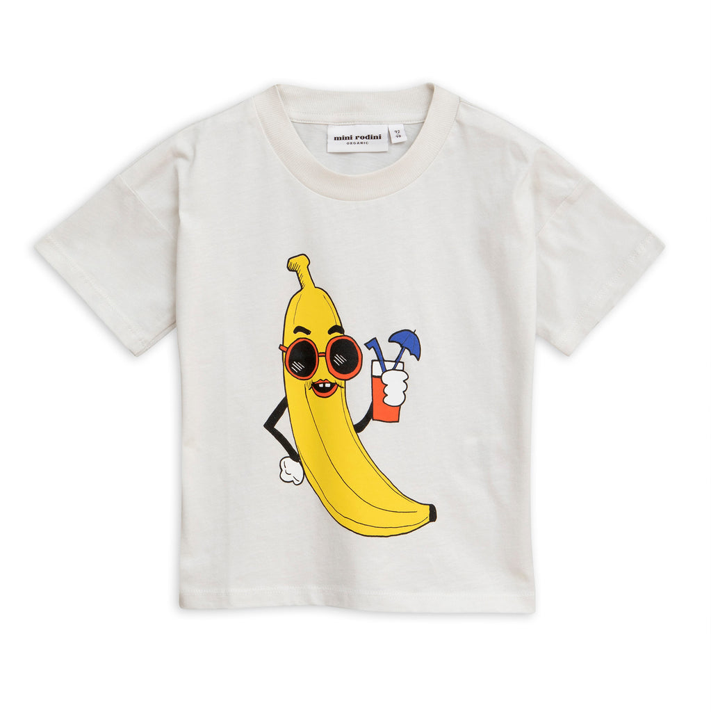 Mini Rodini Off White Banana Tee