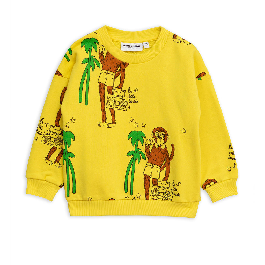 Mini Rodini Yellow Cool Monkey Sweat