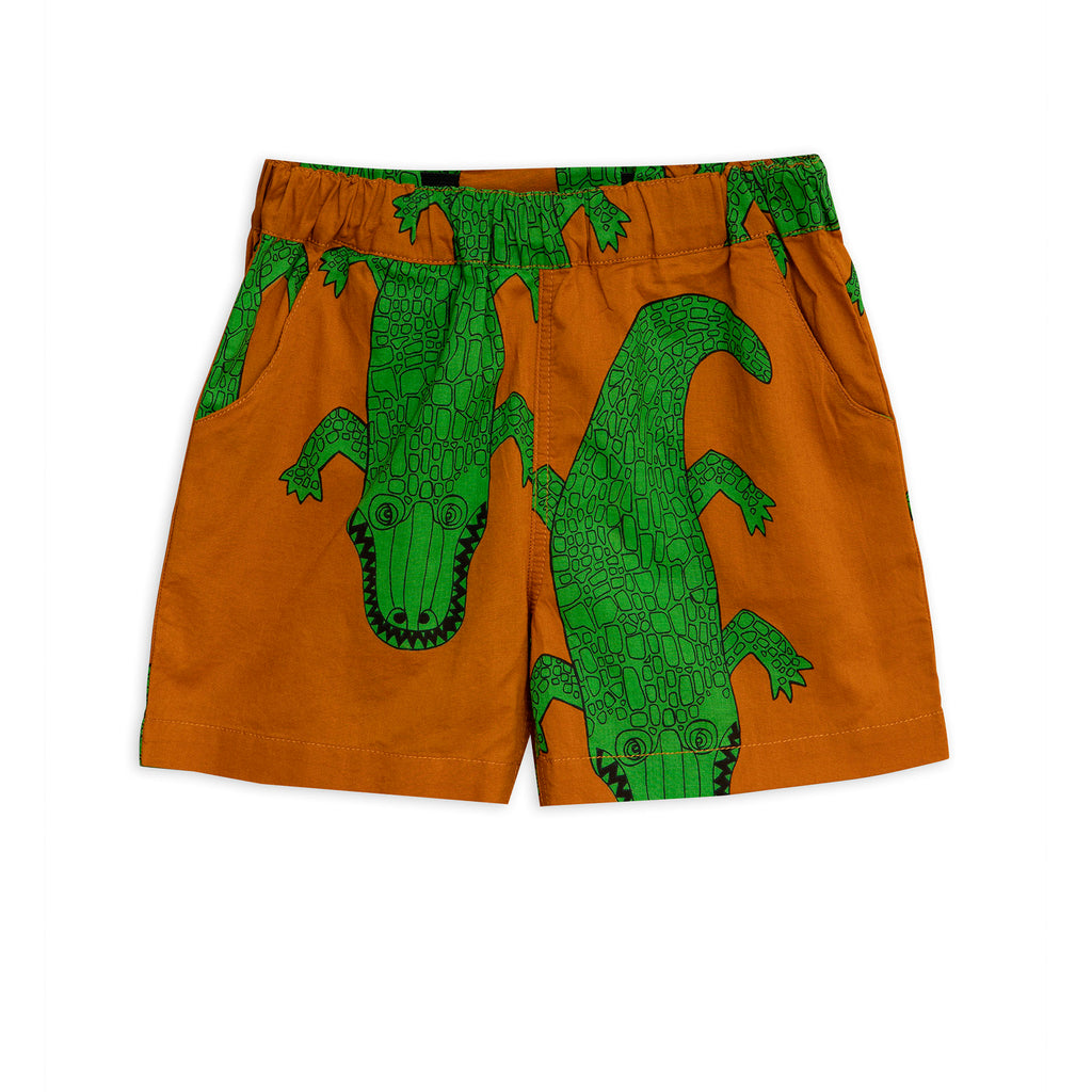 Mini Rodini Brown Crocco Shorts
