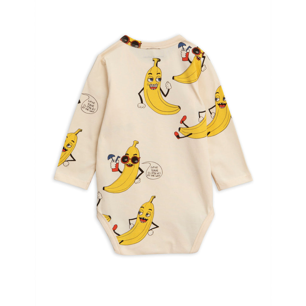 Mini Rodini Cream Banana Print Body