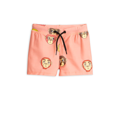 Mini Rodini Pink Monkey Swim Shorts