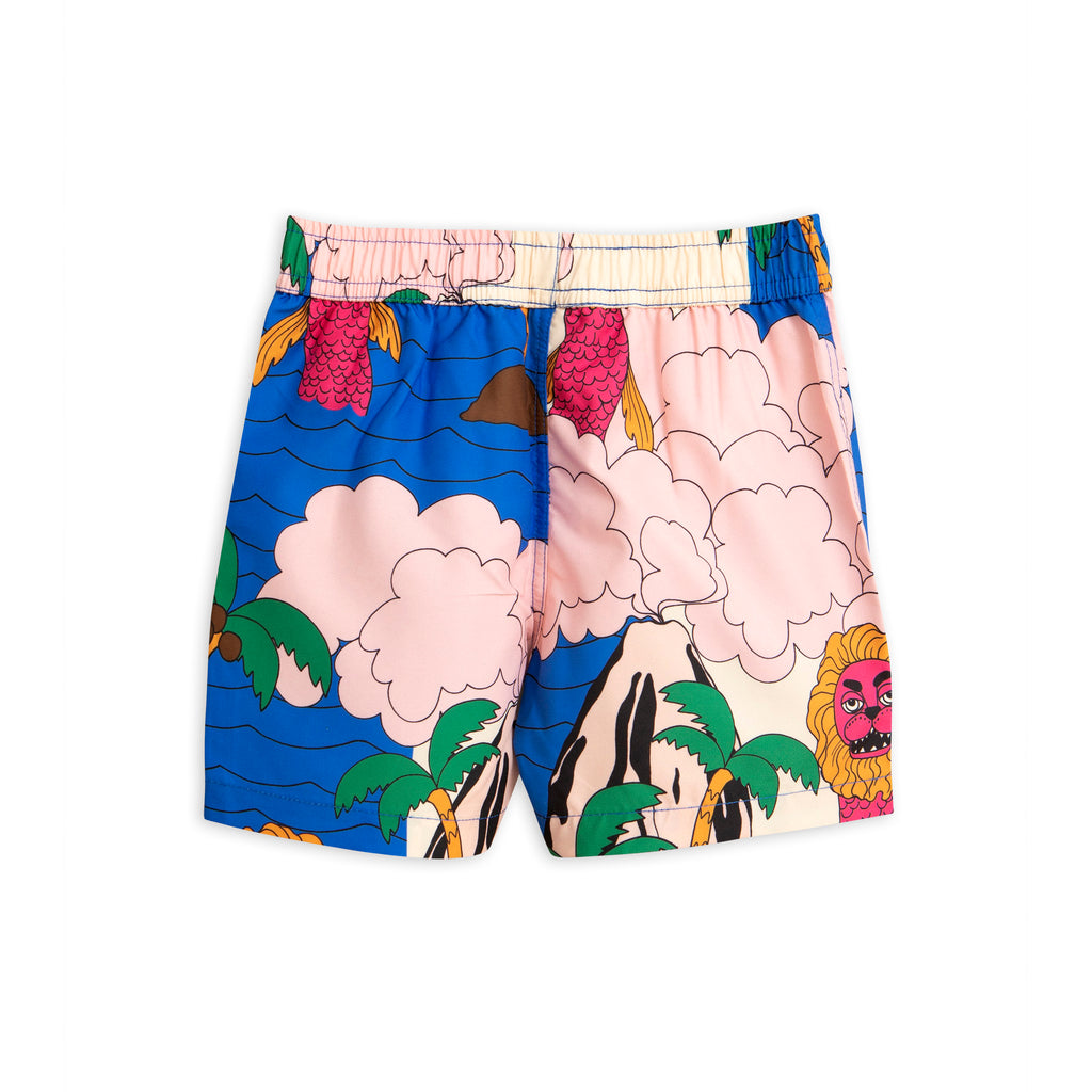 Mini Rodini Multicoloured Seamonster Swim Shorts