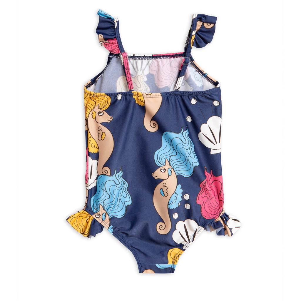 Mini Rodini Multicoloured Seahorse Swimsuit