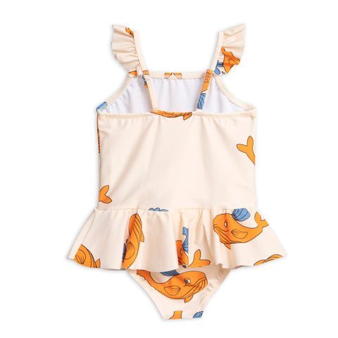 Mini Rodini White Whale Swimsuit