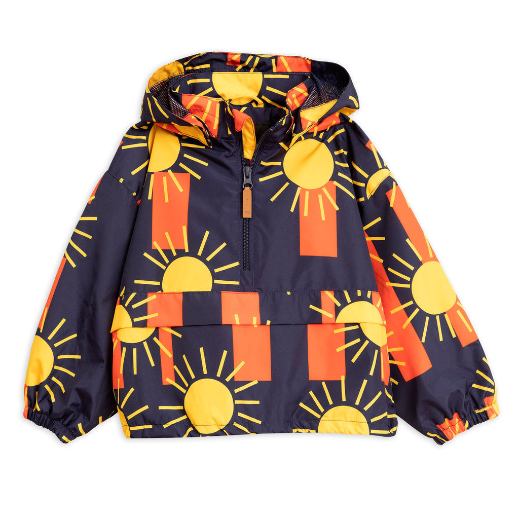 Mini Rodini Navy Sun Stripe Anorak