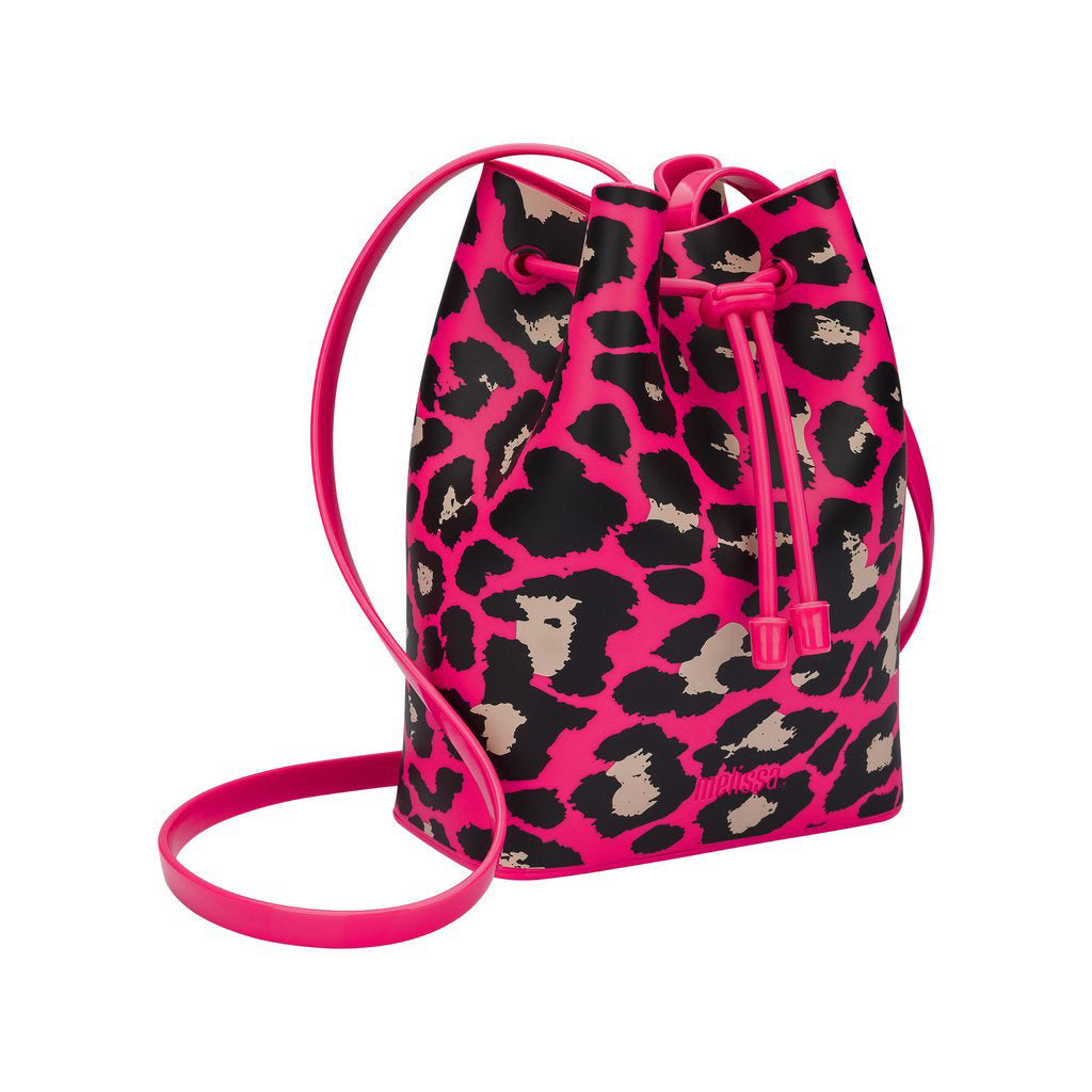 Mini Melissa Pink Leopard Bucket Bag