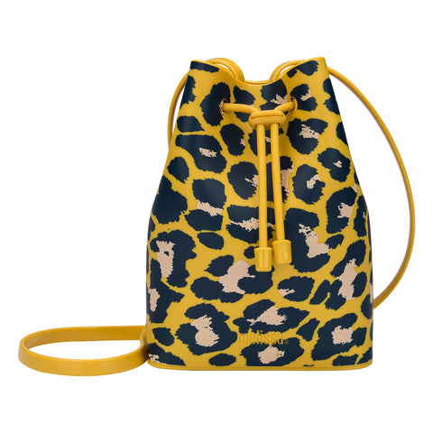 Mini Melissa Yellow Leopard Bucket Bag