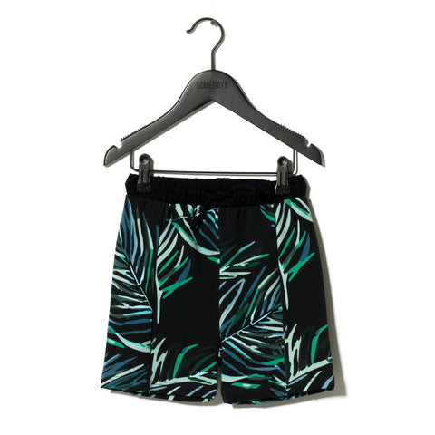 Sometime Soon Black Splash Swim Shorts