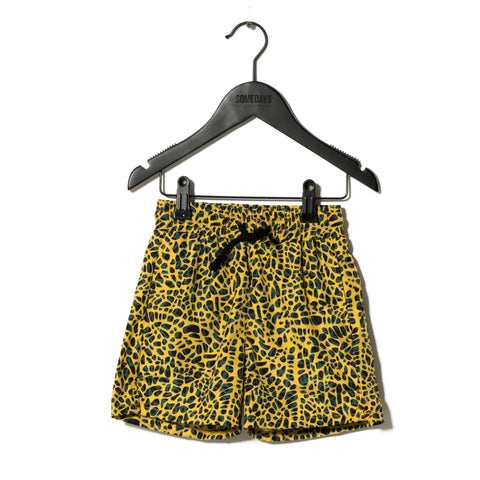 Sometime Soon Yellow Splash Swim Shorts