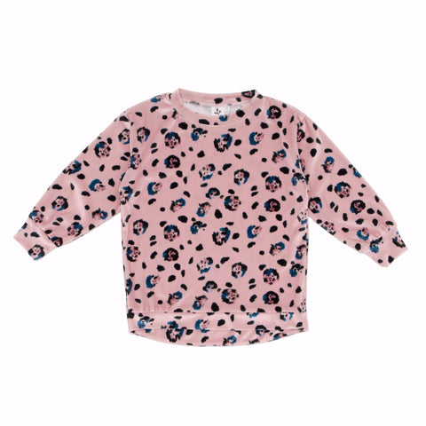 Noe And Zoe Oversized Rose Leopard Sweat