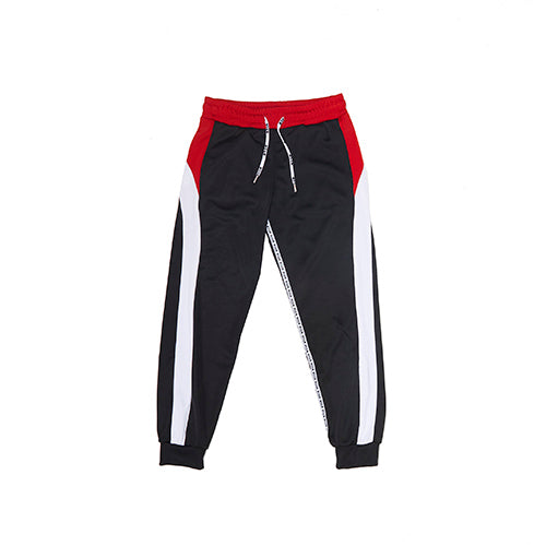 MSGM Black Colour Block Track Pants