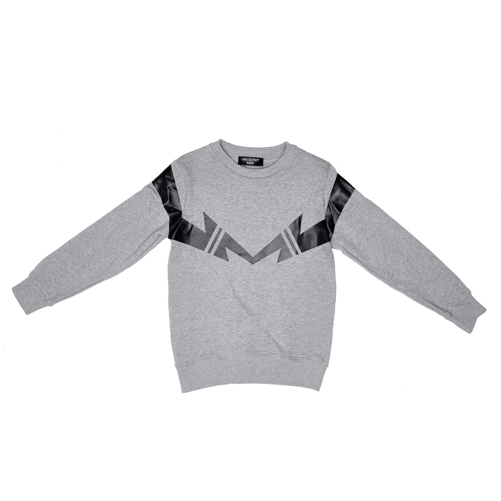 Neil Barrett Grey Thunderbolt Sweat