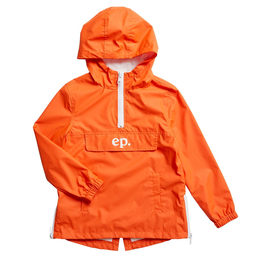 Eleven Paris 'Ben' Orange Hooded Rain Jacket