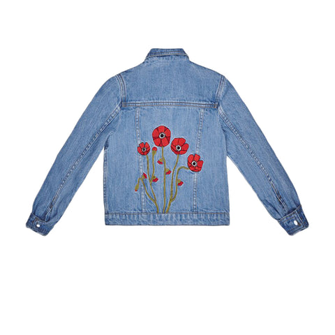 It's In My Jeans 'Bloom' Embroidered Denim Jacket