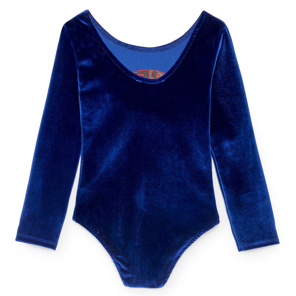 Bobo Choses Blue Velvet Leotard