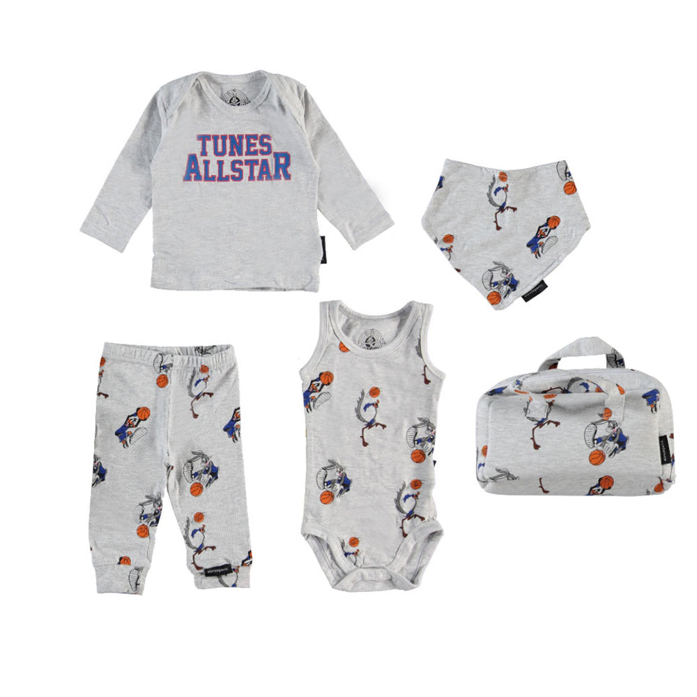 Eleven Paris 'Laky' Grey Marl Space Jam Baby Gift Set
