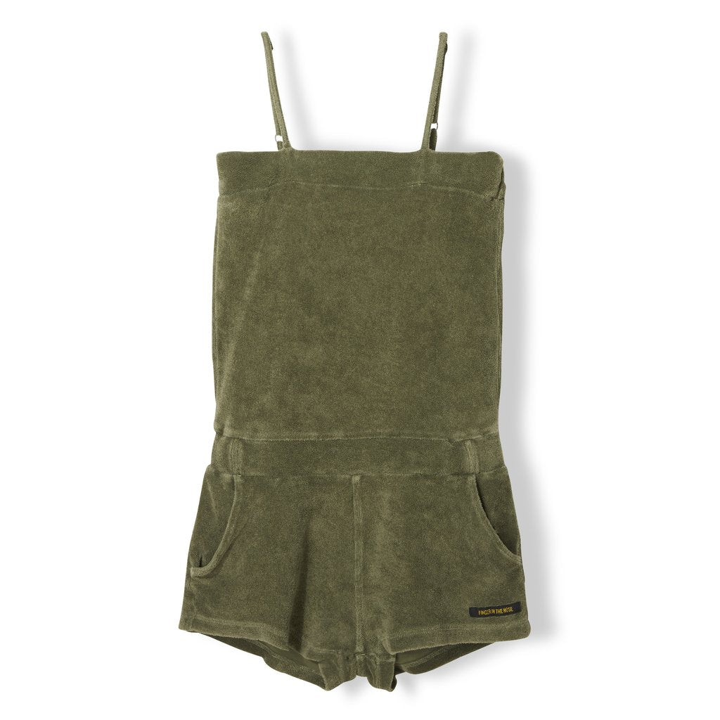 Finger In The Nose Khaki Liv Terry Playsuit