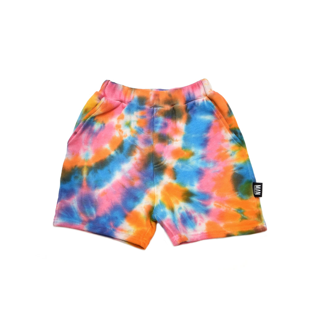 Little Man Happy Tie Dye Bermuda Shorts