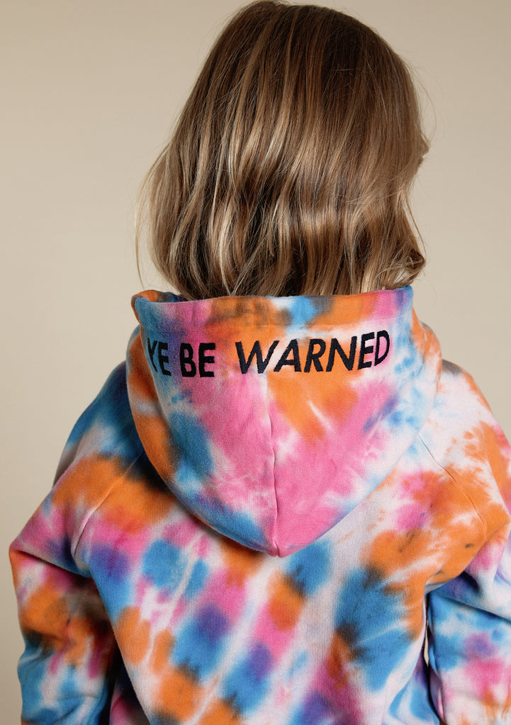 "Little Man Happy Tie Dye ""Ye Be Warned"" Hoodie"