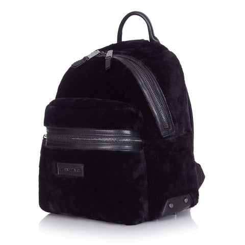 Tiba + Marl 'Miller' Black Faux Fur Backpack