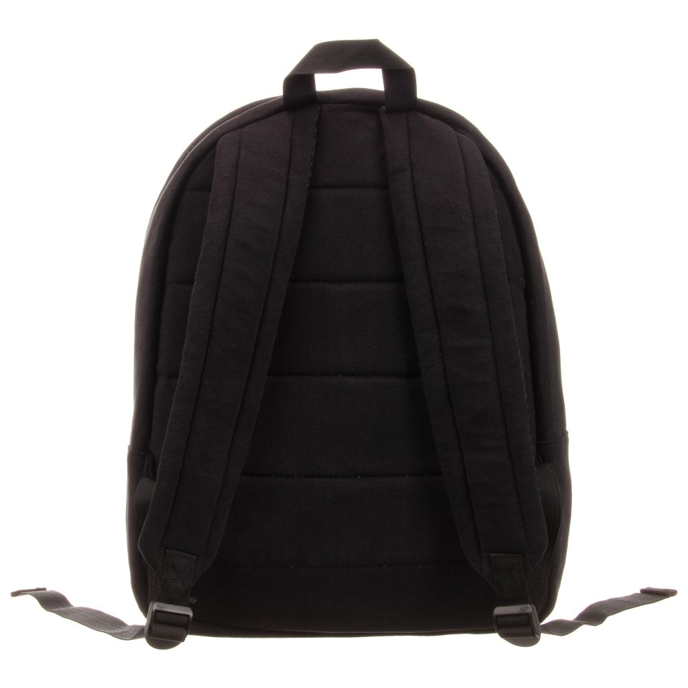 MSGM Black Cotton Logo Backpack
