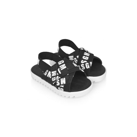 MSGM Monochrome Logo Sandals