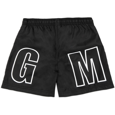 MSGM Black Logo Swim Shorts