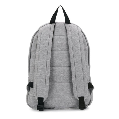 MSGM Grey Cotton Logo Backpack