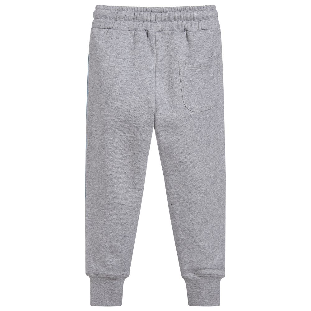 MSGM Grey Logo Tape Sweat Pants