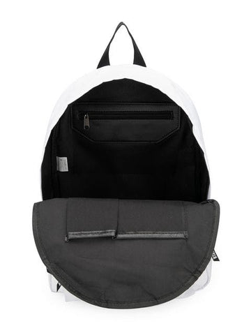 MSGM White Nylon Logo Backpack