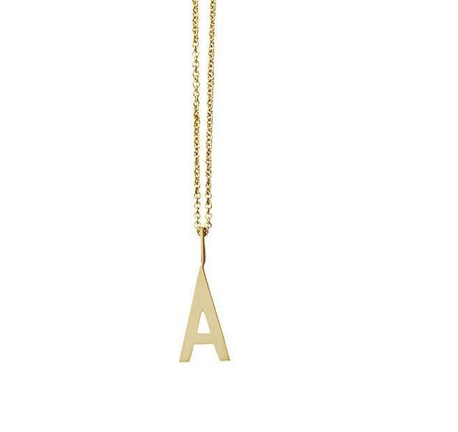 Design Letters 10mm Gold 'Archetype' Initial Pendant
