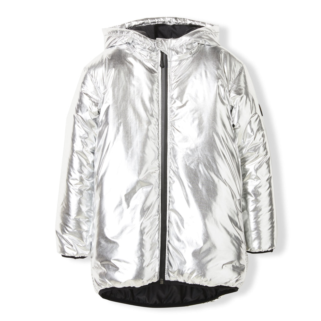 Finger In The Nose Silver Oversized Rain Parka