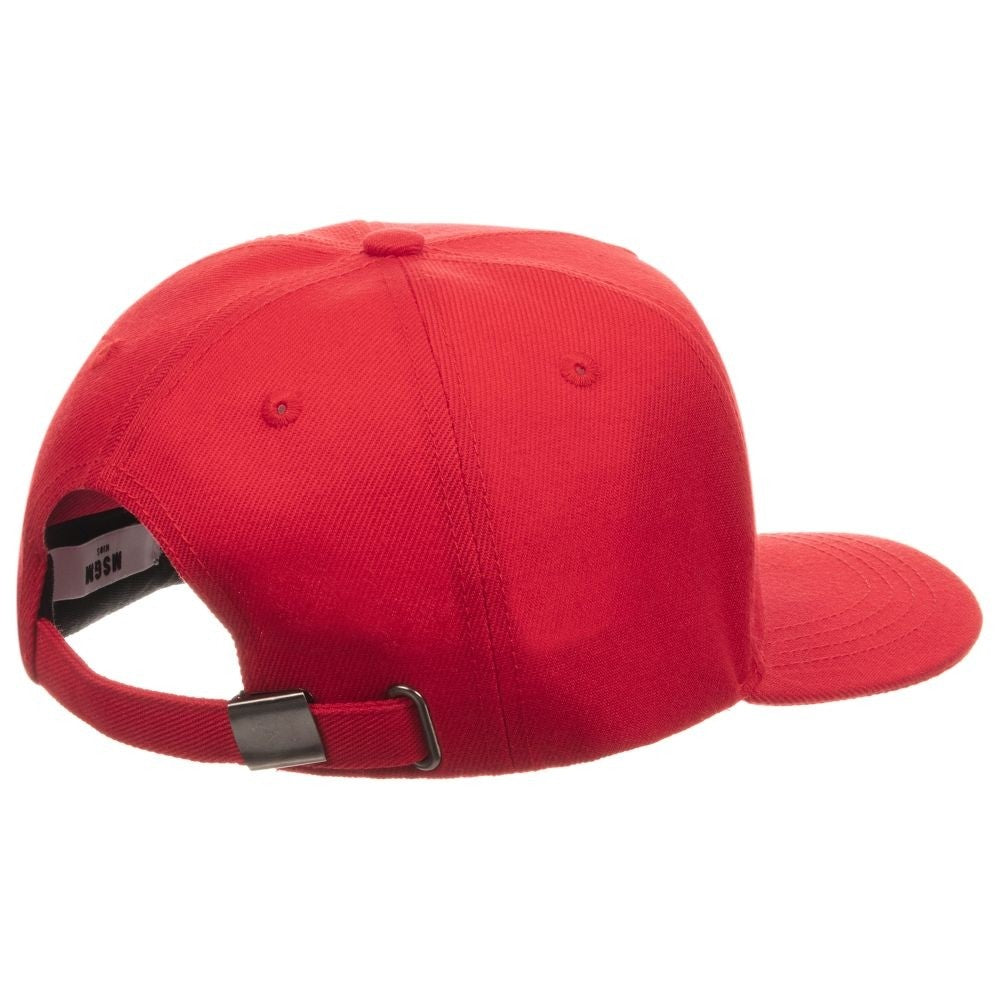 MSGM Red Triple Logo Cap
