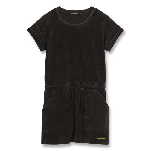 Finger In The Nose 'School' Vintage Black Terry Dress