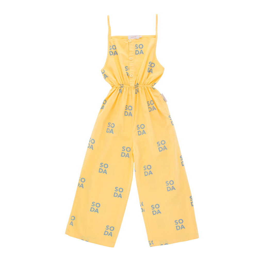 Tiny Cottons Yellow Soda Braces Jumpsuit