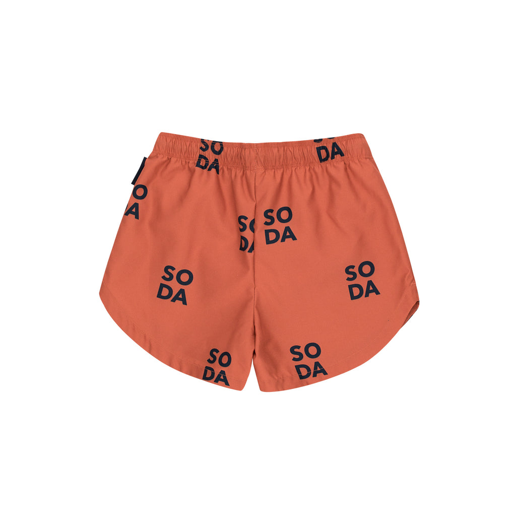 Tiny Cottons Rust 'Soda' Swim Trunks
