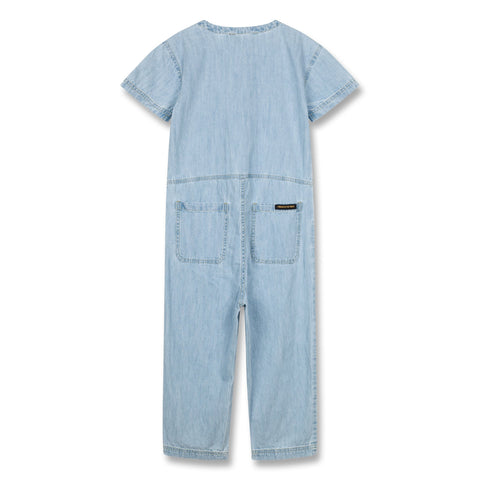 Finger In The Nose 'Terri' Blue Bleached Chambray Jumpsuit