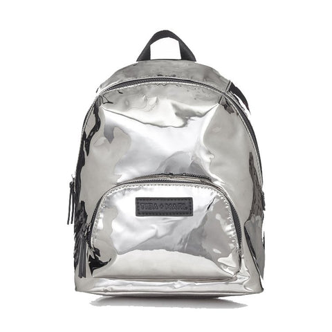 Tiba + Marl 'Mini Elwood' Silver Mirror Backpack